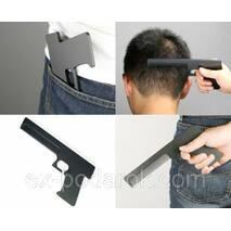"""Расческа """"Пистолет"""" черная."""