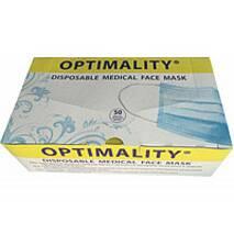 Лицьова маска,Optimaliti.Медична,3-х шарова на резинках