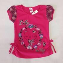 Детская футболка для девочки оптом на 80-98