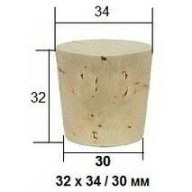 Конічна пробка з натурального кірка 32 х 34/30 мм