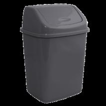 Контейнер для сміття з кришкою, що коливається, сатин, 10 л. ВП- 10sat
