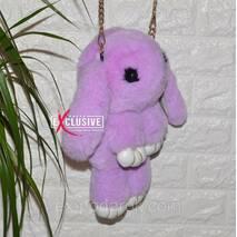 Сумка-рюкзак Зайчик (кролик) сиреневый.