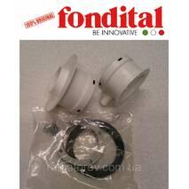 Комплект фланцев для раздельного подключения труб воздухозабора и дымоотвода для конд.котлов (80+80) Fondital