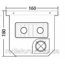Внутрипольные конвекторы Polvax KV.160.1500.180 з вентилятором