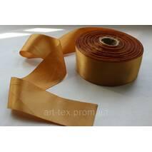 Стрічка атласна 5 см /50 м Золотистий