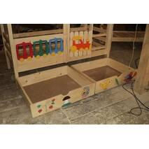 Двухэтажная кровать Паровозик