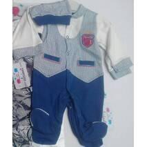 Человечек для малышей  оптом 3-9 месяцев синий