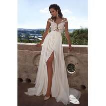 Свадебное платье в греческом стиле с разрезом