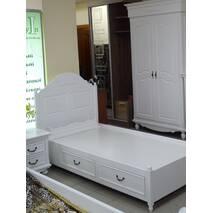 """Біле двохспальне ліжко з ящиками в стилі """"Прованс"""" на замовлення"""