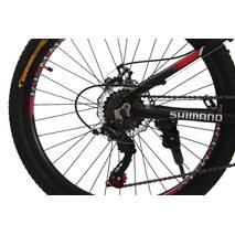 Велосипед 24 Remmy LOСRI 13 AM DD чорно-червоний (м) AL
