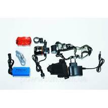 Велокомплект + фонарь аккумуляторный налобный  POLICE BL-B06B-T6 320000W
