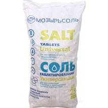 Сіль таблетована, Білорусь, мішок 25 кг