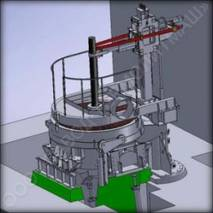 Дугова сталеплавильна піч постійного струму ДСПТ купити недорого