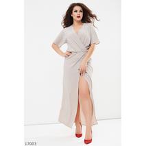 Женское платье 17003 бежевый