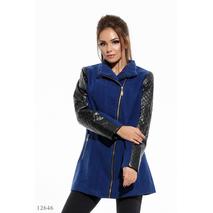 Женское кашемировое пальто Калерия синий