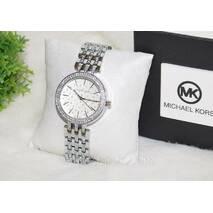 Женские часы Michael Kors серебро со стразами.
