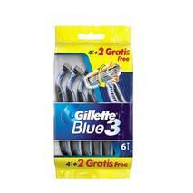 Станки для бритья Gillette Blue 3, одноразовые, 6шт.