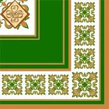 Салфетка ТМ Luxy 33х33 см, 3 слоя, 20 шт. Верона зеленая 4820012346318