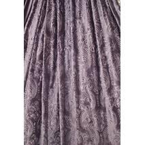Ткань для штор бархат тиснённый фиолет купить недорого