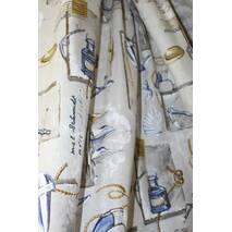 Ткань для штор морской узор купить в Николаеве