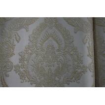 Штори тканина в спальню золота корона білий купити у роздріб