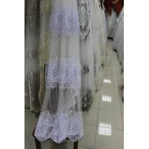 Тюль-гардина белая корона на фатине 3 ряда купить в Тернополе