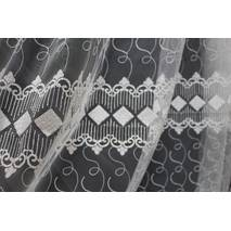 Тюль-гардина белая в спальню ромбики купить в Житомире