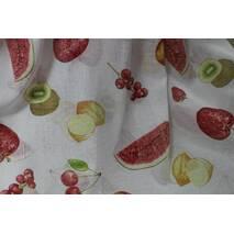 Тюль занавеска лён фрукты купить оптом