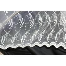 Тюль-гардина фатин завитки в гостиную купить во Львове