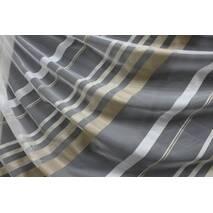 Тюль в спальню бежево-коричневая полоска купить в Сумах