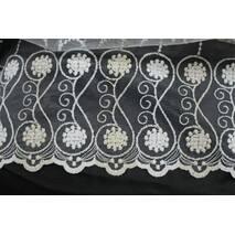 Тюль-гардина фатин бело-золотая купить в Харькове