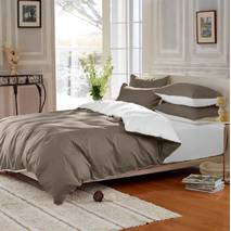 Подростковое двустороннее постельное белье Порох + Белый