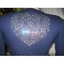 Болеро синее с камушками сердце