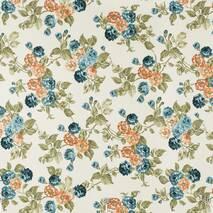 Тканина для штор чохлів покривал подушок великі квіти на стеблах