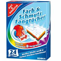 Цветовпитывающие салфетки Gut & Gunstig для стирки одежды 24 шт, EDEKA, Германия