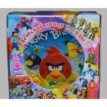 Дитячий набір посуду Angry birds (3 предмети)