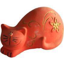 Детская игрушка из гипса Котик