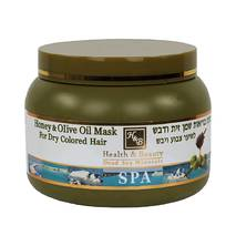 Маска для волос с оливковым маслом и мёдом Health & Beauty Olive Oil & Honey Hair Mask For Dry Colored Hair 250 мл.