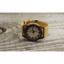 Дерев'яний наручний годинник Zebra
