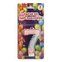 "Свічка цифра для торта веселка ""7"""