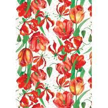 """Подарунковий папір для упаковки """"Тюльпани"""", розмір 707х1000 мм"""