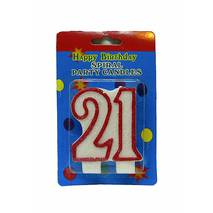 """Свічка в торт на день народження цифра """"21"""" ювілейна з блискітками"""