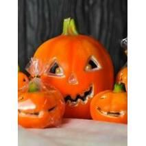 Свічка гарбуз малий овальний на хеллоуин