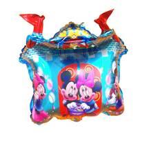 Фольгированный воздушный шарик Замок Микки и Мини  60х52 см (Китай) в упаковке