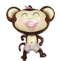 Фольгированный куля Мавпочка в рожевому 100 х 85 см.
