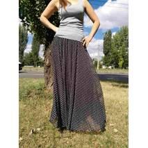 Шифоновая юбка макси мелкий горох