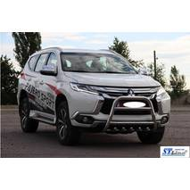 Кенгурятник WT008 (нерж.) - Mitsubishi Pajero Sport 2015+ гг. купить в Полтаве