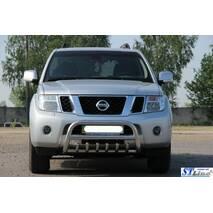 Кенгурятник WT008 (нерж.) - Nissan Pathfinder 2006-2015 гг. купить в Житомире