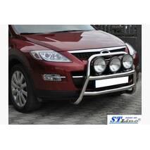 Передняя защита WT018 (нерж.) - Mazda CX-9 2007-2016 гг. купить во Львове