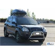 Кенгурятник WT025 (нерж.) - Hyundai Tucson JM 2004+ гг. купить в Херсоне